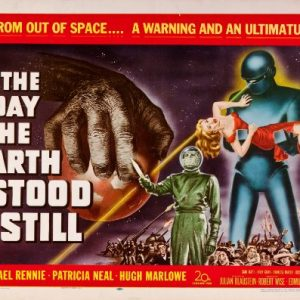 The-Day-the-Earth-Stood-Still-Science-Fiction-B-Movie-Classic-Mini-Art-Print-Poster-B-0
