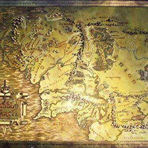 The-Lord-Of-The-Rings-The-Hobbit-Map-Of-Middle-Earth-Limited-Edition-Metallic-Dufex-Movie-Poster-Art-Print-Size-27-x-195-0