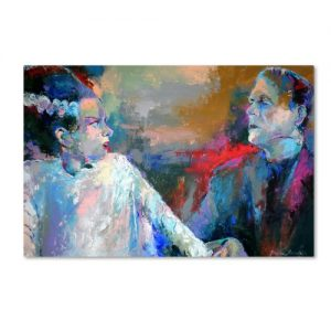 Trademark-Fine-Art-Frankenstein-and-His-Wife-Artwork-by-Richard-Wallich-0