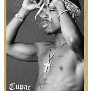 Tupac-Smoke-1971-1996-Poster-Cork-Pin-Memo-Board-Beech-Framed-965-x-66-cms-Approx-38-x-26-inches-0