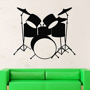 Wall-Stickers-Vinyl-Decal-Drums-Music-Rock-Pop-Musical-Instruments-ig382-0