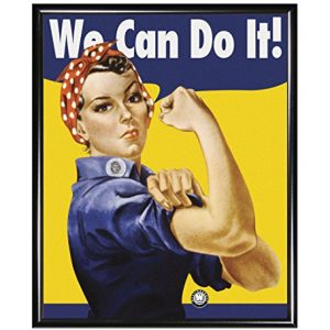 We-Can-Do-it-Rosie-the-Riveter-Iconic-Cultural-Vintage-Decorative-Art-Framed-Poster-Print-Z-Framed-8x10-0