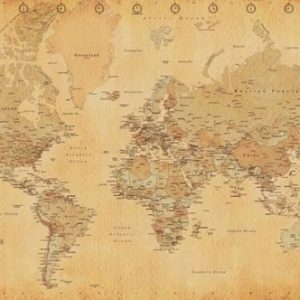 World-Map-Vintage-Style-Poster-Print-0