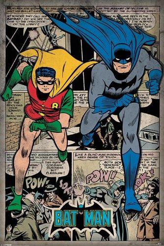 Batman-DC-Comics-Poster-Retro-Style-Comic-Montage-Batman-Robin-Size-24-x-36-0