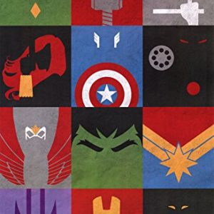 Trends-International-Avengers-Minimalist-Grid-Rolled-Poster-22-by-34-Inch-0