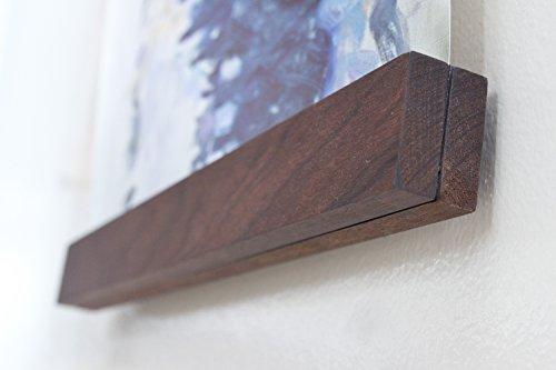 The Bold Home 16 Inch Walnut Wood Floating Frame Walnut