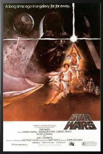 Star Wars  Style A Full Size Movie 2740 Wood Framed -1830