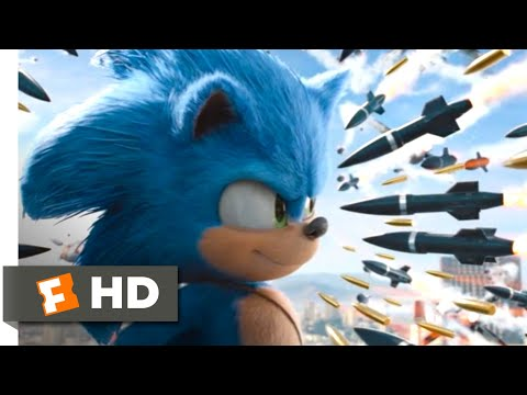 Sonic the Hedgehog (2020) – Rooftop Missile Chase Scene (8/10) | Movieclips