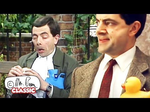 Mr Bean Eats a GOLDFISH!   Mr Bean Funny Clips   Classic Mr Bean